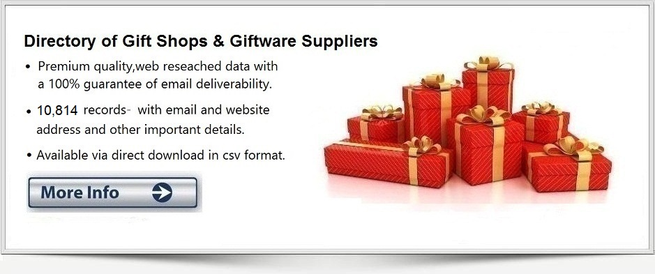 Gift Shops Email List, Database & Mailing List with Email Addresses