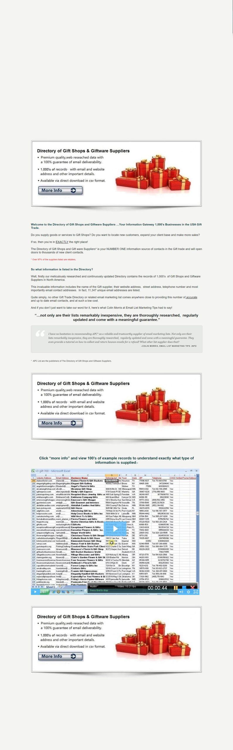 gift shops database